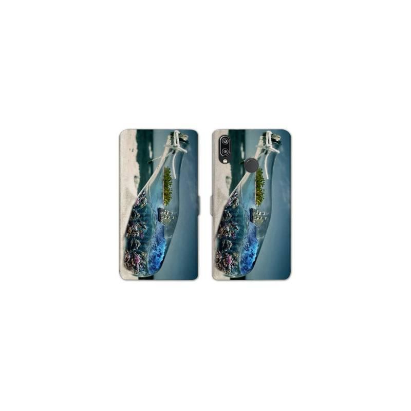 RV Housse cuir portefeuille Samsung Galaxy A40 Mer