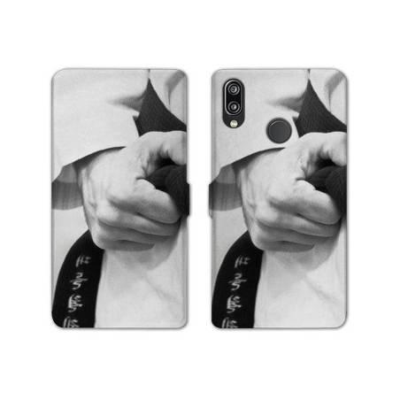 RV Housse cuir portefeuille Samsung Galaxy A40 Sport Combat
