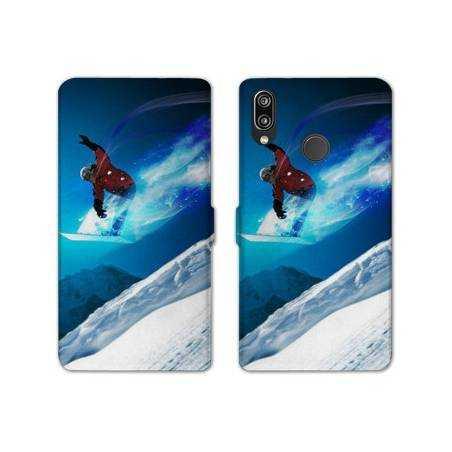 RV Housse cuir portefeuille Samsung Galaxy A40 Sport Glisse