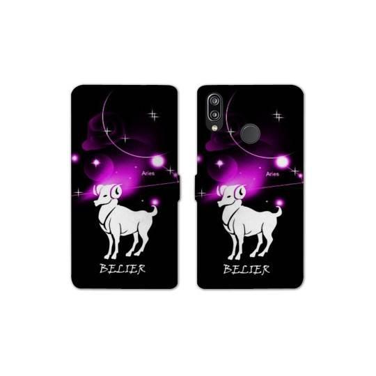 RV Housse cuir portefeuille Samsung Galaxy A40 signe zodiaque