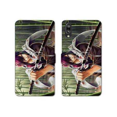 RV Housse cuir portefeuille Samsung Galaxy A40 Manga - divers