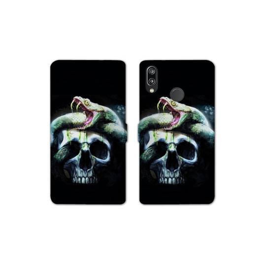 RV Housse cuir portefeuille Samsung Galaxy A40 reptiles