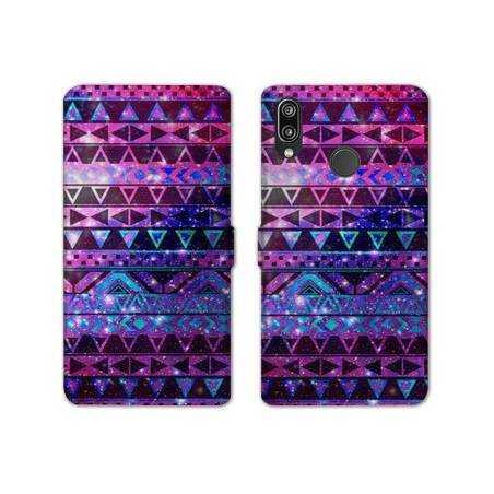 RV Housse cuir portefeuille Samsung Galaxy A40 motifs Aztec azteque