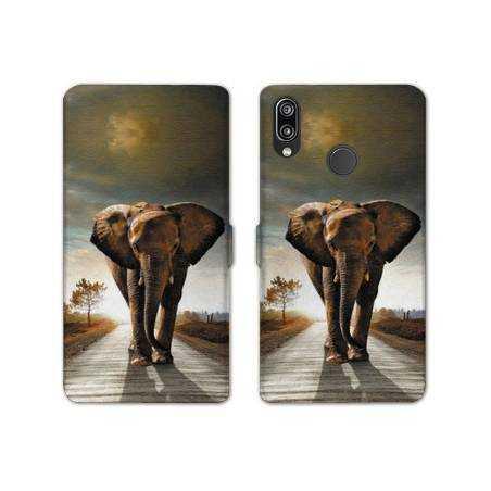 RV Housse cuir portefeuille Samsung Galaxy A40 savane