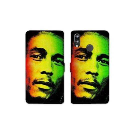 RV Housse cuir portefeuille Samsung Galaxy A40 Bob Marley
