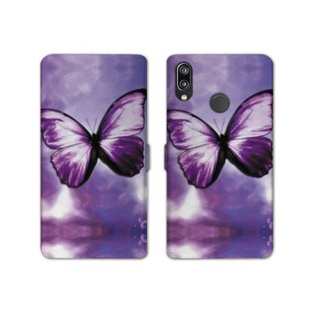 RV Housse cuir portefeuille Samsung Galaxy A40 papillons