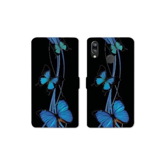 RV Housse cuir portefeuille Samsung Galaxy A40 papillons