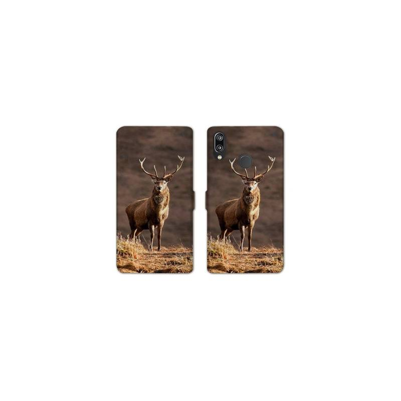 RV Housse cuir portefeuille Samsung Galaxy A40 chasse peche