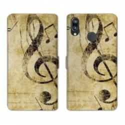 RV Housse cuir portefeuille Samsung Galaxy A40 Musique