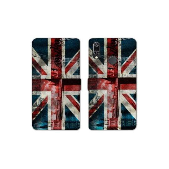 RV Housse cuir portefeuille Samsung Galaxy A40 Angleterre