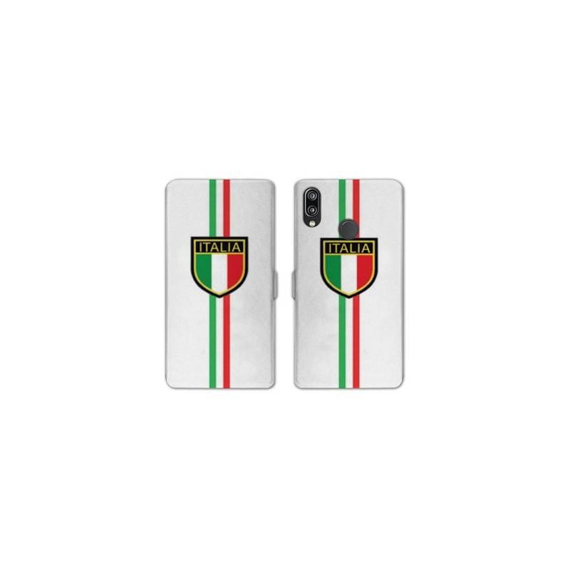 RV Housse cuir portefeuille Samsung Galaxy A40 Italie