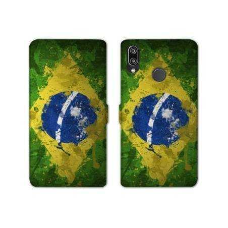 RV Housse cuir portefeuille Samsung Galaxy A40 Bresil
