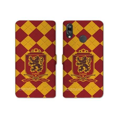 RV Housse cuir portefeuille Huawei Y6 (2019) / Y6 Pro (2019) WB License harry potter ecole