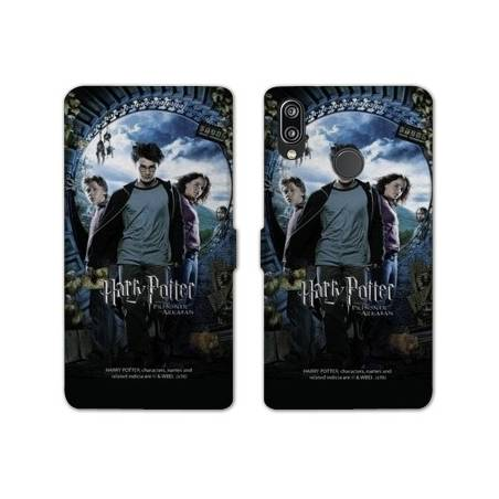RV Housse cuir portefeuille Huawei Y6 (2019) / Y6 Pro (2019) WB License harry potter pattern