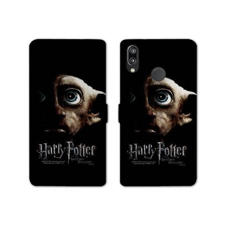 RV Housse cuir portefeuille Huawei Y6 (2019) / Y6 Pro (2019) WB License harry potter dobby