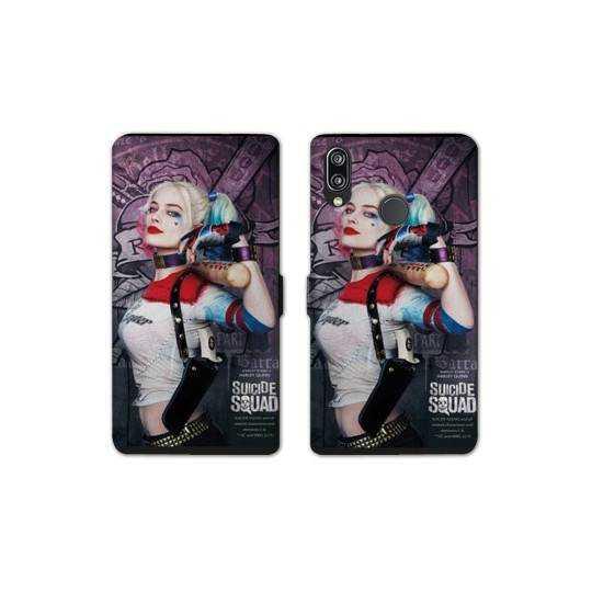 RV Housse cuir portefeuille Huawei Y6 (2019) / Y6 Pro (2019) Harley Quinn