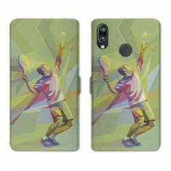 RV Housse cuir portefeuille Huawei Y6 (2019) / Y6 Pro (2019) Tennis