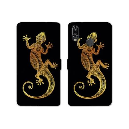 RV Housse cuir portefeuille Huawei Y6 (2019) / Y6 Pro (2019) Animaux Maori