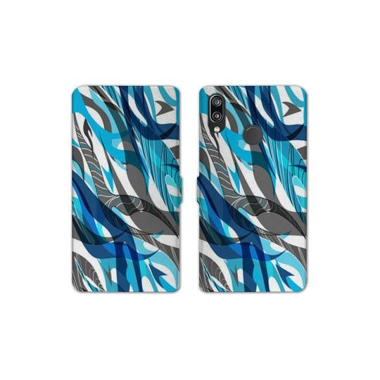 RV Housse cuir portefeuille Huawei Y6 (2019) / Y6 Pro (2019) Etnic abstrait