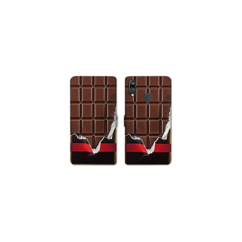 RV Housse cuir portefeuille Huawei Y6 (2019) / Y6 Pro (2019) Trompe oeil