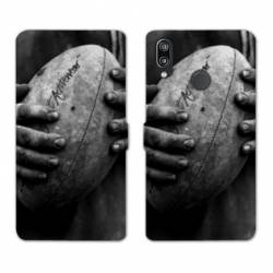 RV Housse cuir portefeuille Huawei Y6 (2019) / Y6 Pro (2019) Rugby