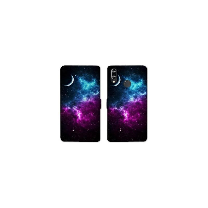 RV Housse cuir portefeuille Huawei Y6 (2019) / Y6 Pro (2019) Espace Univers Galaxie