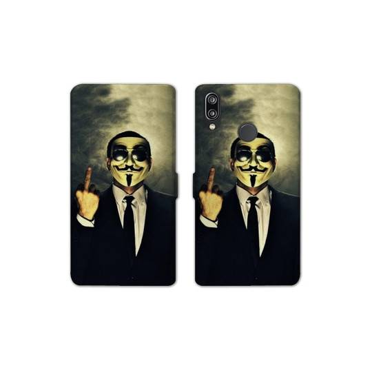 RV Housse cuir portefeuille pour Huawei Y6 (2019) / Y6 Pro (2019) Anonymous