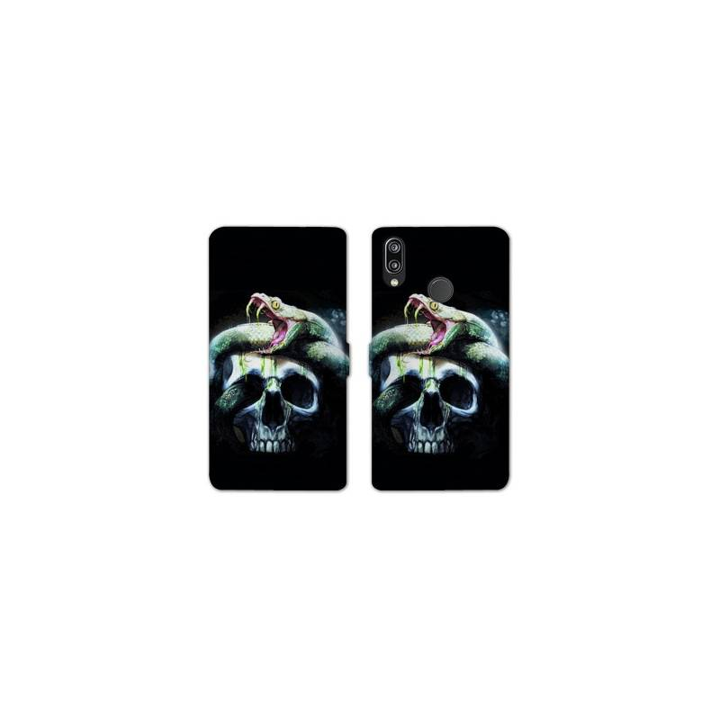 RV Housse cuir portefeuille Huawei Y6 (2019) / Y6 Pro (2019) reptiles