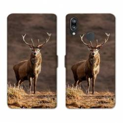 RV Housse cuir portefeuille Huawei Y6 (2019) / Y6 Pro (2019) chasse peche