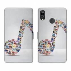 RV Housse cuir portefeuille Huawei Y6 (2019) / Y6 Pro (2019) Musique