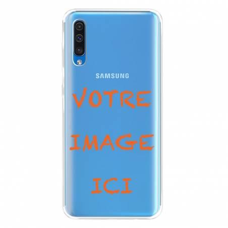 Coque transparente Samsung Galaxy A50 personnalisée