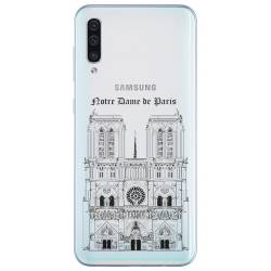 Coque transparente Samsung Galaxy A50 Notre Dame Paris