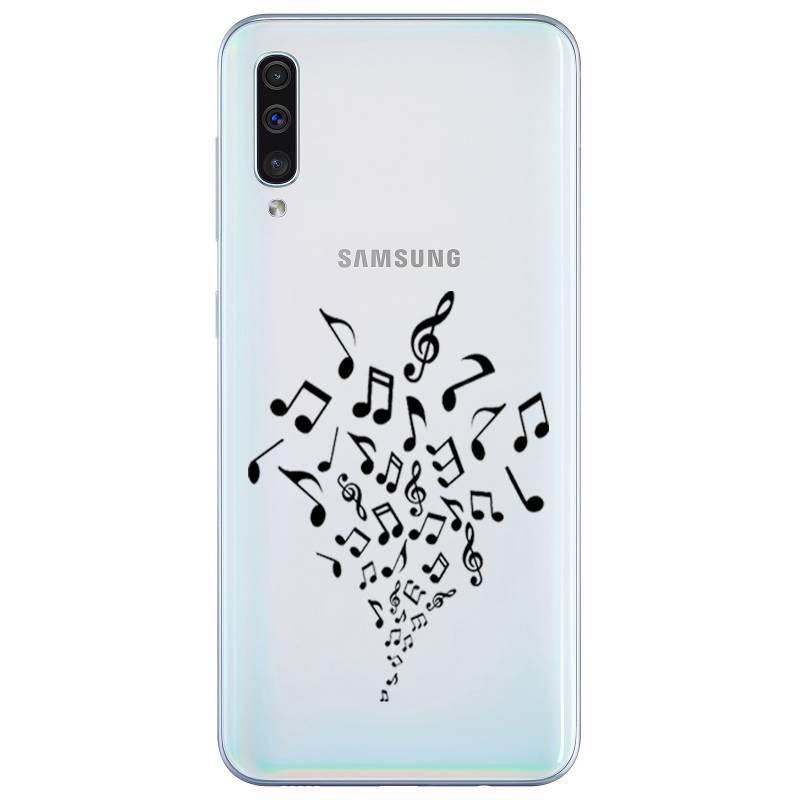 Coque transparente Samsung Galaxy A50 note musique