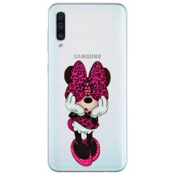 Coque transparente Samsung Galaxy A50 noeud papillon