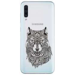 Coque transparente Samsung Galaxy A50 loup