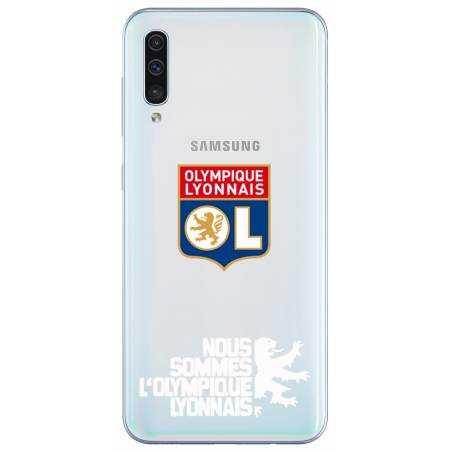 Coque transparente Samsung Galaxy A50 Licence Olympique Lyonnais - double face