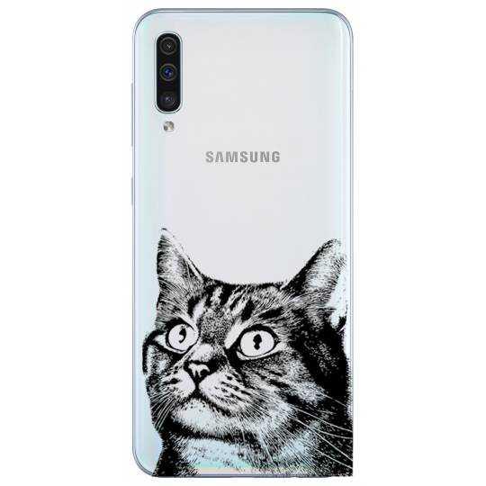 Coque transparente Samsung Galaxy A50 Chaton