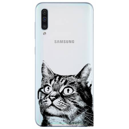 Coque transparente Samsung Galaxy A50 Chaton