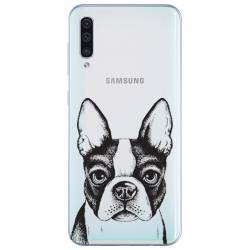 Coque transparente Samsung Galaxy A50 Bull dog
