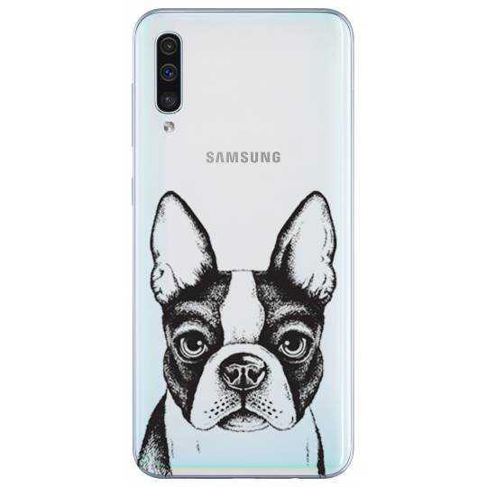 Coque transparente Samsung Galaxy A50 Bull dog