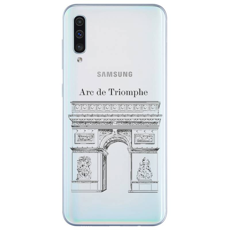 Coque transparente Samsung Galaxy A50 Arc triomphe