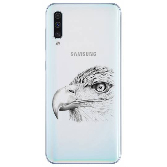 Coque transparente Samsung Galaxy A50 aigle