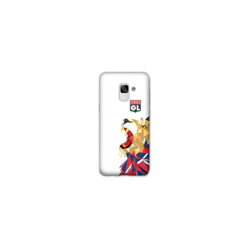 Coque Samsung Galaxy J6 PLUS - J610 License Olympique Lyonnais OL - lion color