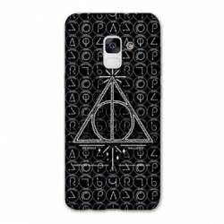 Coque Samsung Galaxy J6 PLUS - J610 WB License harry potter pattern triangle noir