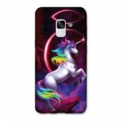 Coque Samsung Galaxy J6 PLUS - J610 Licorne Arc en ciel