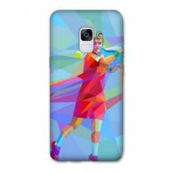 Coque Samsung Galaxy J6 PLUS - J610 Tennis Revers Bleu