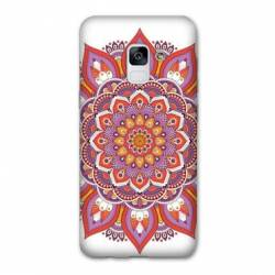 Coque Samsung Galaxy J6 PLUS - J610 Etnic abstrait Rosas orange