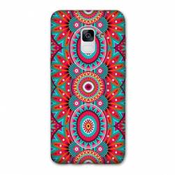 Coque Samsung Galaxy J6 PLUS - J610 Etnic abstrait Pic rouge