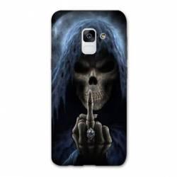 Coque Samsung Galaxy J6 PLUS - J610 tete de mort Doigt