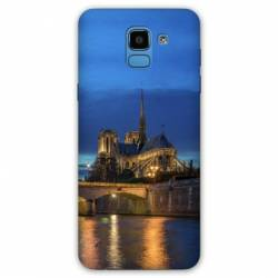 Coque Samsung Galaxy J6 PLUS - J610 France Notre Dame Paris night